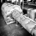 Innenmaterial: ISO HT 750 bis 700°C beständig, Dämmstoff: 100 mm MF Matte, ISO VA bis 600°C beständig, Befestigung: Edelstahl Turbinenhaken